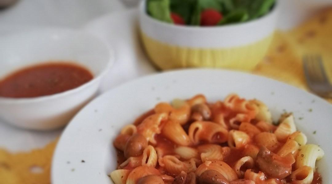 Umak od rajčica s šampinjonima