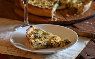 Quiche sa porilukom, špekom i svježim sirom
