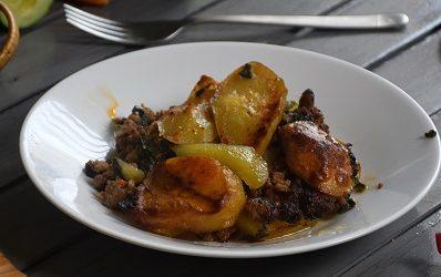Musaka sa krumpirom, mesom i blitvom