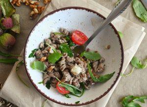 hladna salata s tjesteninom i gorgonzolom