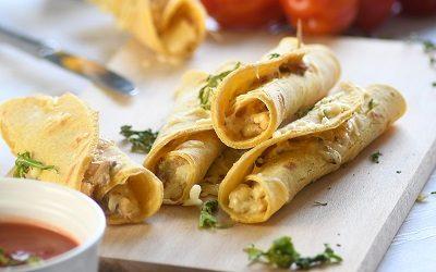 Kukuruzne rolice sa sirom i povrćem (taquitos)